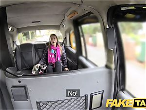 fake cab euro girl pounded with rock rigid pecker facial cumshot