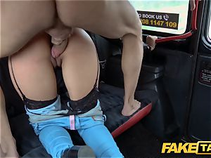 fake taxi warm Latina with giant globes and butt