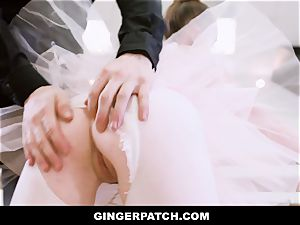 GingerPatch - sandy-haired Ballerina riding Judges humungous knob