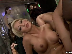 Bibi Fox with sweetheart pals filled with torrid jizz