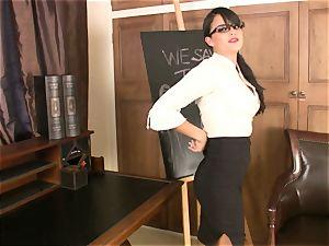 sloppy schoolteacher Sasha whip gets too warm to handle for something mischievous