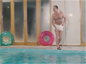 RELAXXXED - busty british honey loves hot pool fuck-fest