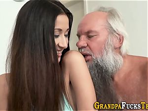 nubile rimmed by aged stud