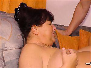 HausfrauFicken - fledgling tear up with plump German wifey