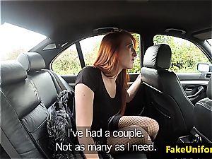redhead street mega-slut gets picked up by a fake cop