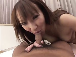 Anna Mizukawa pleasures with two ample asian penises on cam