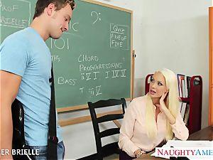 blonde teacher Summer Brielle screw in classroom
