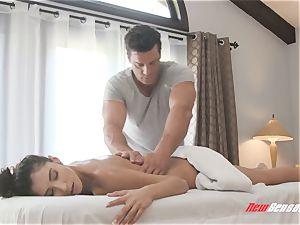 Gianna Dior sensual rubdown orgy