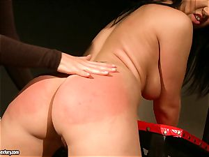 Kathia Nobili let a super-hot doll stretch gams how raw pussy