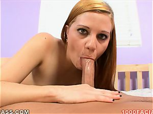 Brandi Belle got face testicle tonic on her pretty face